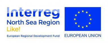 Interreg (North Sea Region) European Regional Development Fund. Dit is een fonds van de Europese Unie.